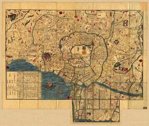 Alter Stadtplan von Edo