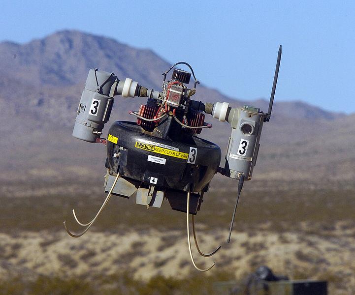 Bild einer T-Hawk Drohne, wie sie in Fukushima zum Einsatz kommt.